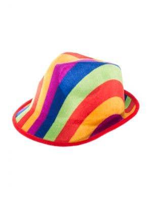 Colourful Fedora Style Rainbow Hat Costume Accessory Main Image