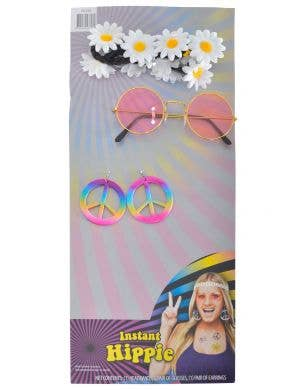 Instant 1970's Women's Hippie Costume Accessory Set Main Image