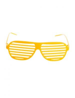 Yellow Shutter Shades Novelty Accessory Main Image