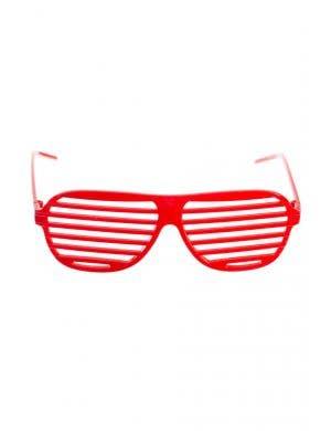 Red retro novelty shutter shades main image