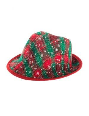 Red, Green and White Christmas Novelty Fedora Hat