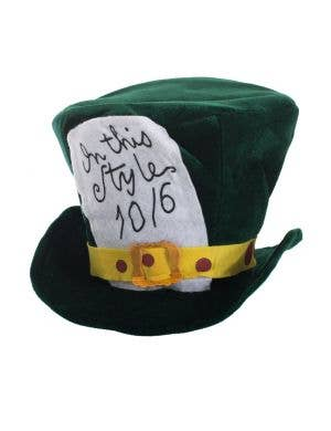 Plush Green Velvet Mat Hatter Costume Accessory Hat