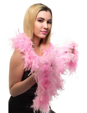 Light Pink Feather Boa Costume Accessory Main Image