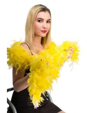 Vibrant Yellow Feather Boa Costume Accessory
