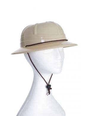 Adjustable Light Brown African Jungle Safari Pith Costume Hat Helmet Accessory Main Image