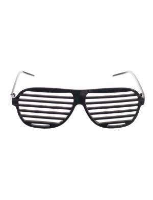 73b7dc4691 80 s Black Shutter Sunglasses Novelty Accessory Main Image