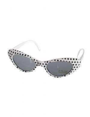 Black and White Polka Dot Sunglasses 1950's Accessory Main Image