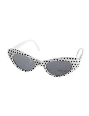 581b2a651e7 Black and White Polka Dot Sunglasses 1950 s Accessory Main Image
