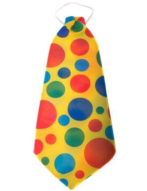 Polka Dot Giant Yellow Circus Clown Costume Neck Tie