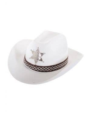 Feltex White Deputy Sheriff Cowboy Hat Costume Accessory