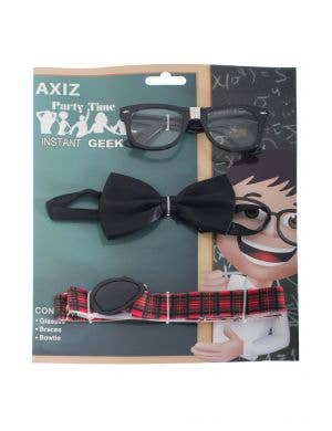 School Nerd Instant Geek Costume Accessory Kit Main Image