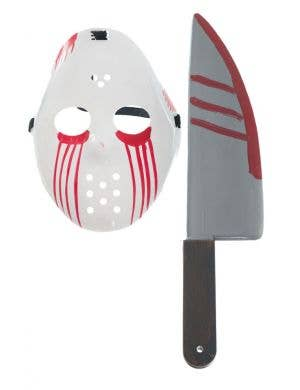 Slasher Hockey Mask and Knife Accessory Set