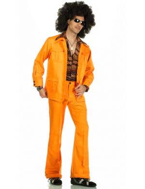 70's Deluxe Retro Leisure Suit Costume in Orange
