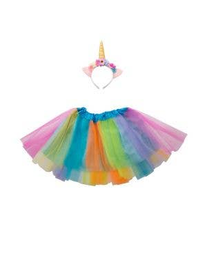 Magical Girls Unicorn Dress Up Kit With Tutu And Headband