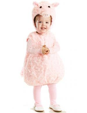 Toddler's portly pink piglet fancy dress costume main image