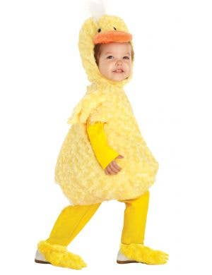 Toddler's yellow plush chunky duckling costume main image