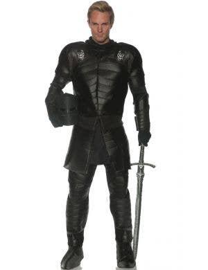 Skull Warrior Men's Black Knight Medieval Costume