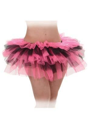 Layered Pink and Black Women's Costume Tutu