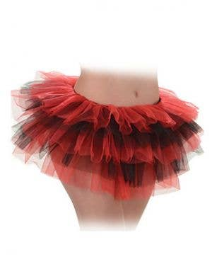 Layered Red and Black Women's Mini Costume Tutu