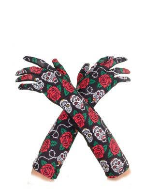Day of the Dead Halloween Long Gloves