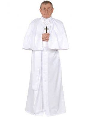 Men's Pope Religious Fancy Dress Costume Front