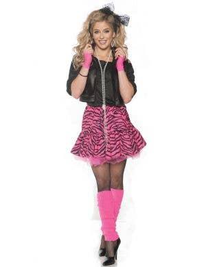 Rockin' the 80's Pink Women's Fancy Dress Costume