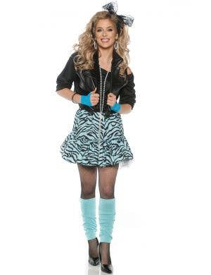 Rockin' the 80's Women's Blue Fancy Dress Costume