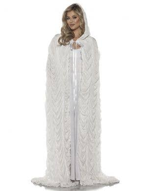 Full Length White Coffin Cape Costume Accessory
