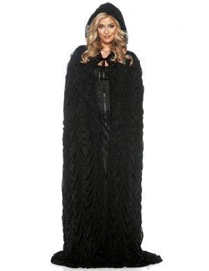 Full Length Black Coffin Cape Costume Accessory