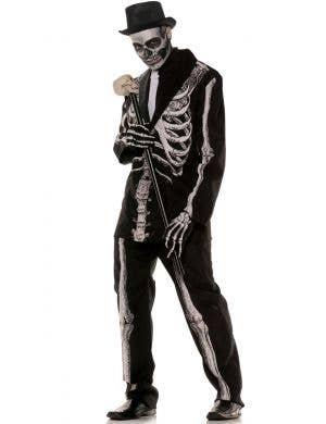 Bone Daddy Men's Skeleton Suit Halloween Costume