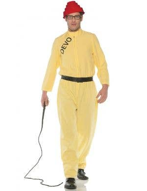 Devo Pop Duo 1980's Men's Plus Size Fancy Dress Costume