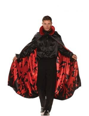 Slick Vampire Men's Reversible Satin Red Bat Cape