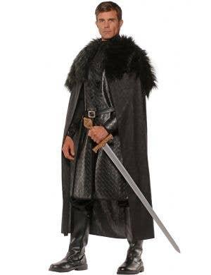 Renaissance Men's Black Costume Cape
