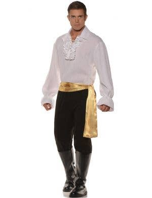 High Seas Pirate Bandit Men's White Fancy Dress Costume