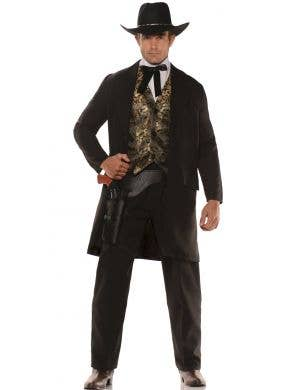 Wild West Gambler Plus Size Men's Cowboy Costume