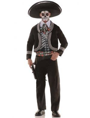 Day of the Dead Men's Mariachi Skeleton Costume