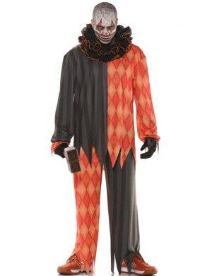Twisted Evil Clown Plus Size Men's Halloween Costume