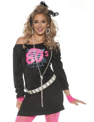 Women's Awesome 80's Fancy Dress Costume Dress Main Image