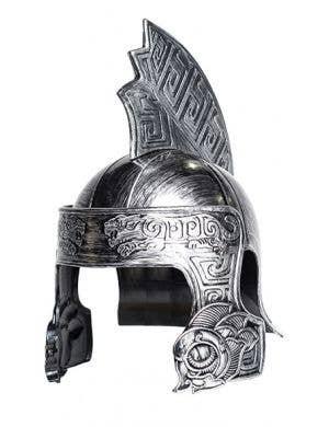 Antique Silver Trojan Warrior Costume Helmet