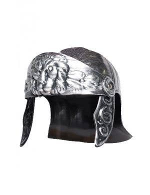 Antique Silver Roman Warrior Costume Helmet