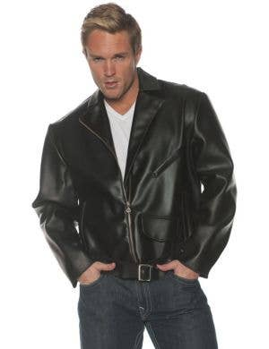 1950's Greaser Men's Plus Size Black Costume Jacket