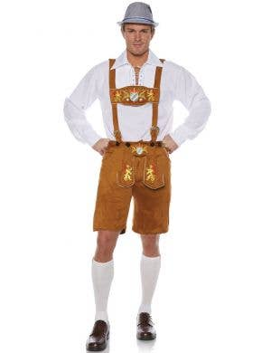 Lederhosen Deluxe Men's Oktoberfest Fancy Dress Costume