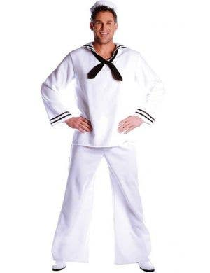 Classic White Sailor Uniform Men's Plus Size Costume
