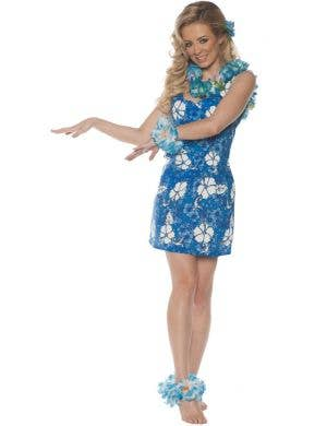 Aloha Blue Hawaiian Beauty Women's Costume