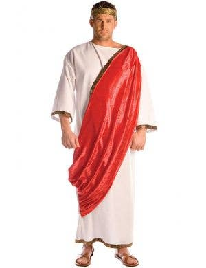 Men's Roman Emperor Fancy Dress Costume Toga Main