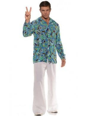 1970's Groovy Hippie Men's Costume Shirt