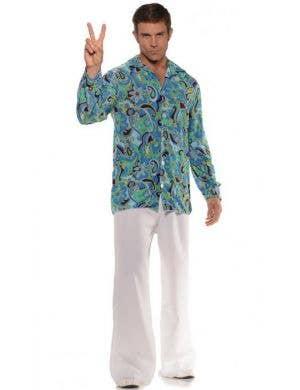 1970's Groovy Hippie Plus Size Men's Costume Shirt