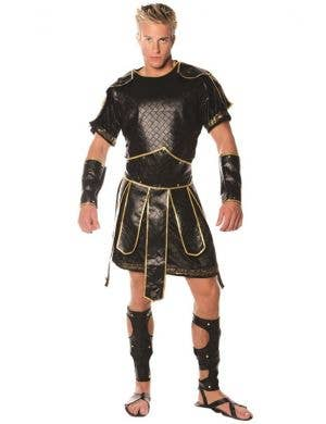 Deluxe Men's Spartan Warrior Fancy Dress Costume