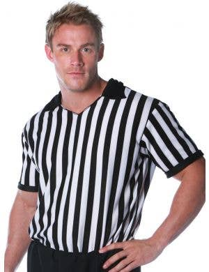 Sports Referee Plus Size Men's Striped Costume Shirt