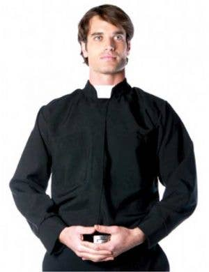 Men's Religious Priest Deluxe Costume Shirt